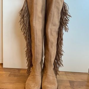 New Sam Edelman fringe leather boots